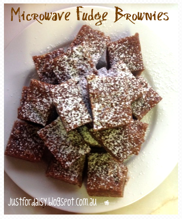 Just For Daisy :: Microwave Fudge Brownies