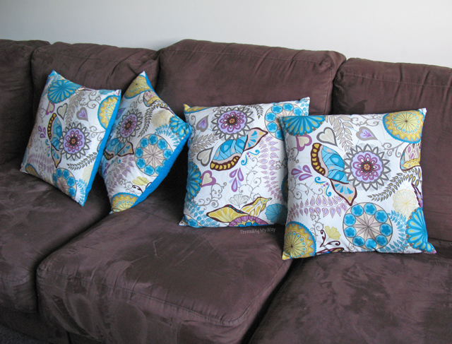 how to make a simple cushion cover with zip
