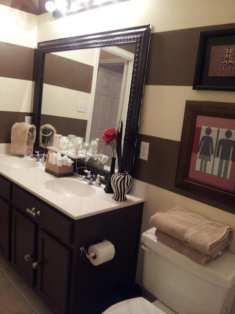 Bathroom Cabinet Painting DIY