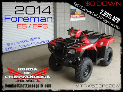 2014 Foreman 500 TRX500FE2E ES Power Steering EPS SALE Price Honda of Chattanooga TN ATV Dealer