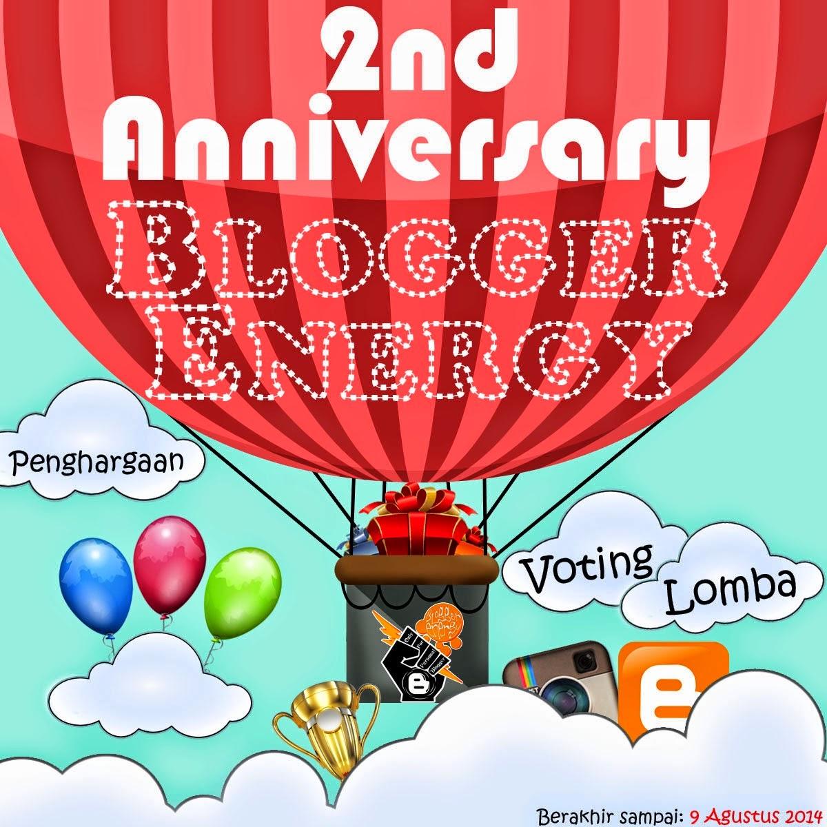 Ulang Tahun, Blogger Energy