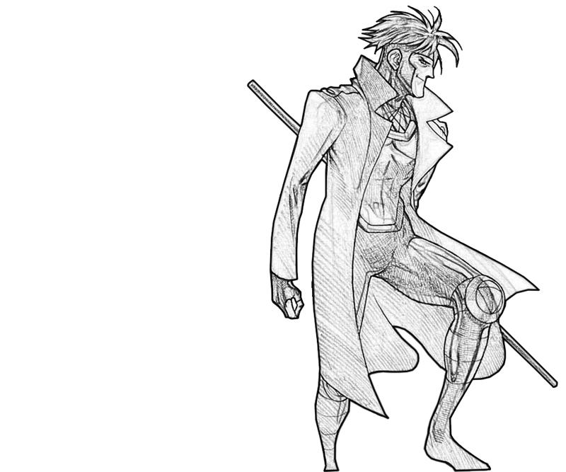 x men gambit Coloring pages Printable