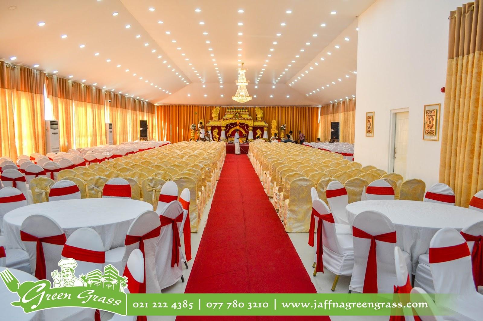 Decorated Wedding Hall At Green Grass Wedding Hall Jaffna For Hindu