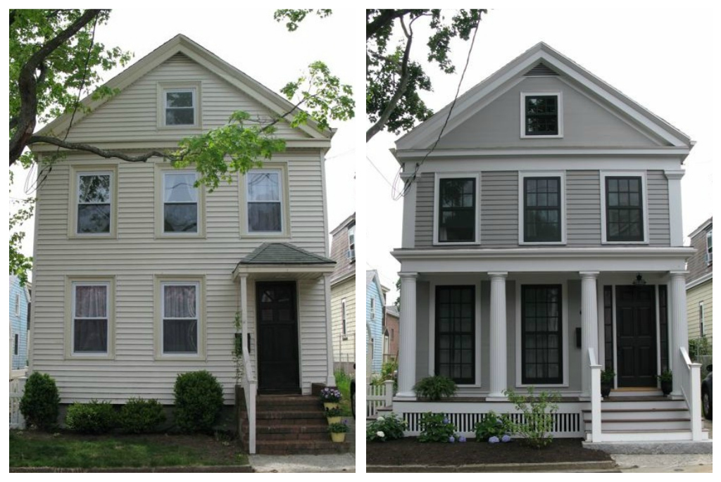 20 Home Exterior Makeover Before And After Ideas | Exterior Makeover,  Remodeling Ideas And House