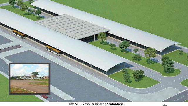 Novo terminal de passageiros de Santa Maria que usarão o VLP