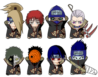 Anime chibi naruto characters hd desktop wallpapers for gambar naruto wallpaper chibi naruto anime characters voltagebd Image collections