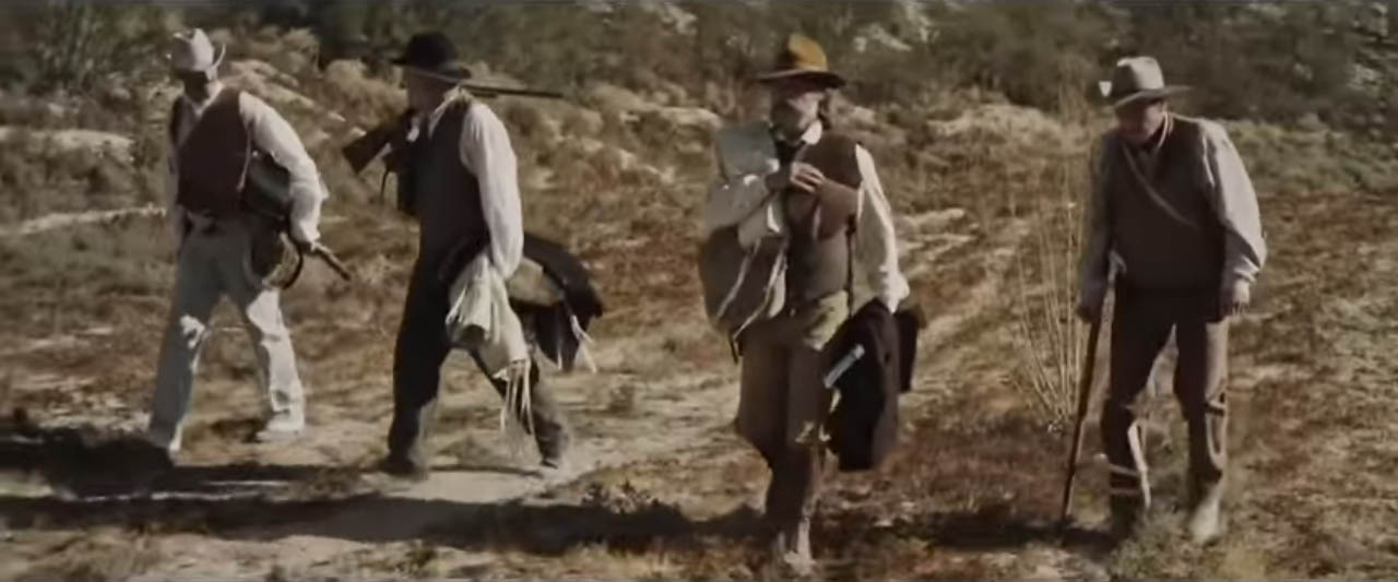 Bone Tomahawk 2015 american western horror about Four men set out in the Wild West to rescue a group of captives from cannibalistic cave dwellers