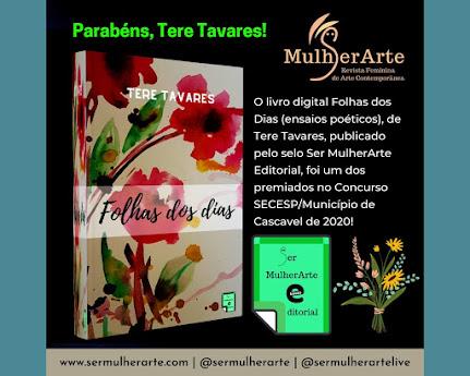 <br>Parabéns à nossa autora Tere Tavares!