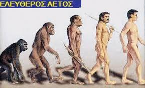 φυσική εξέλιξη) τυχαία μετάλλαξη  Η εξέλιξη του ανθρώπου από τον  πίθηκο