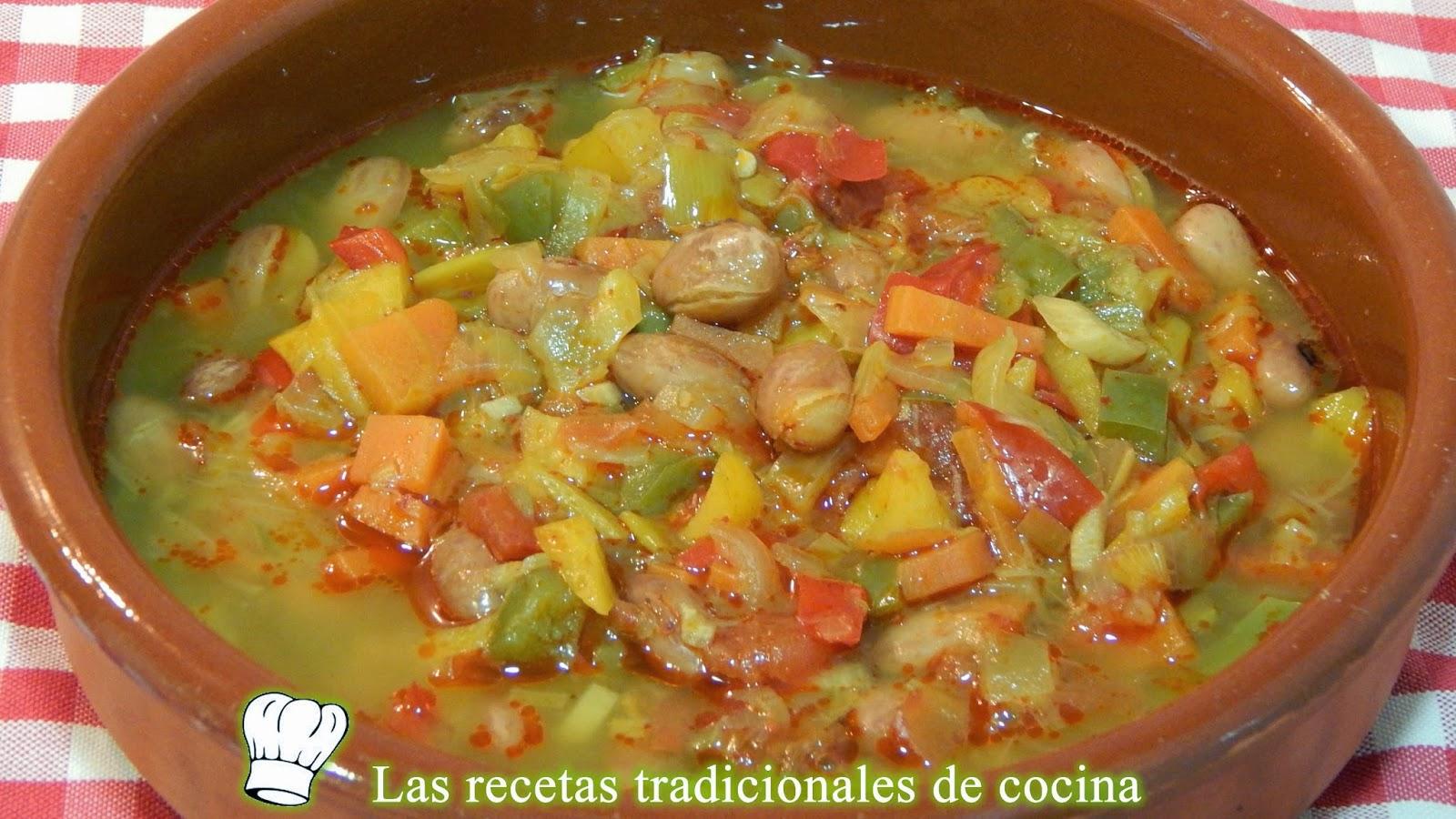 Receta de alubias pintas con verduras