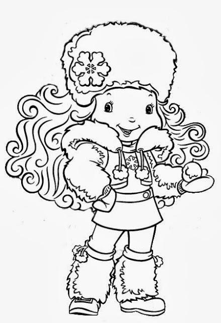 Floquinho de Neve desenho para colorir