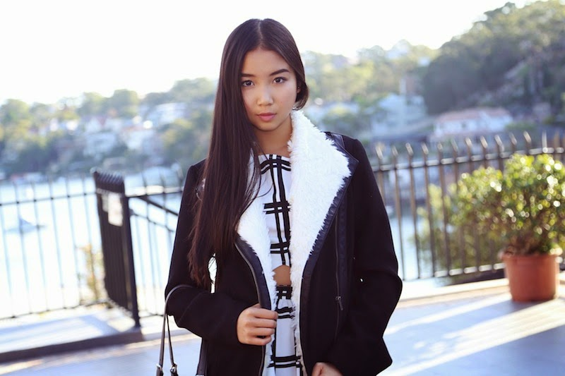 Wish, Honda, Winter in the City, blogger style challenge, Wish Milano Jacket, Missguided, grid pattern dress, Michael Kors, Bronx, ASOS