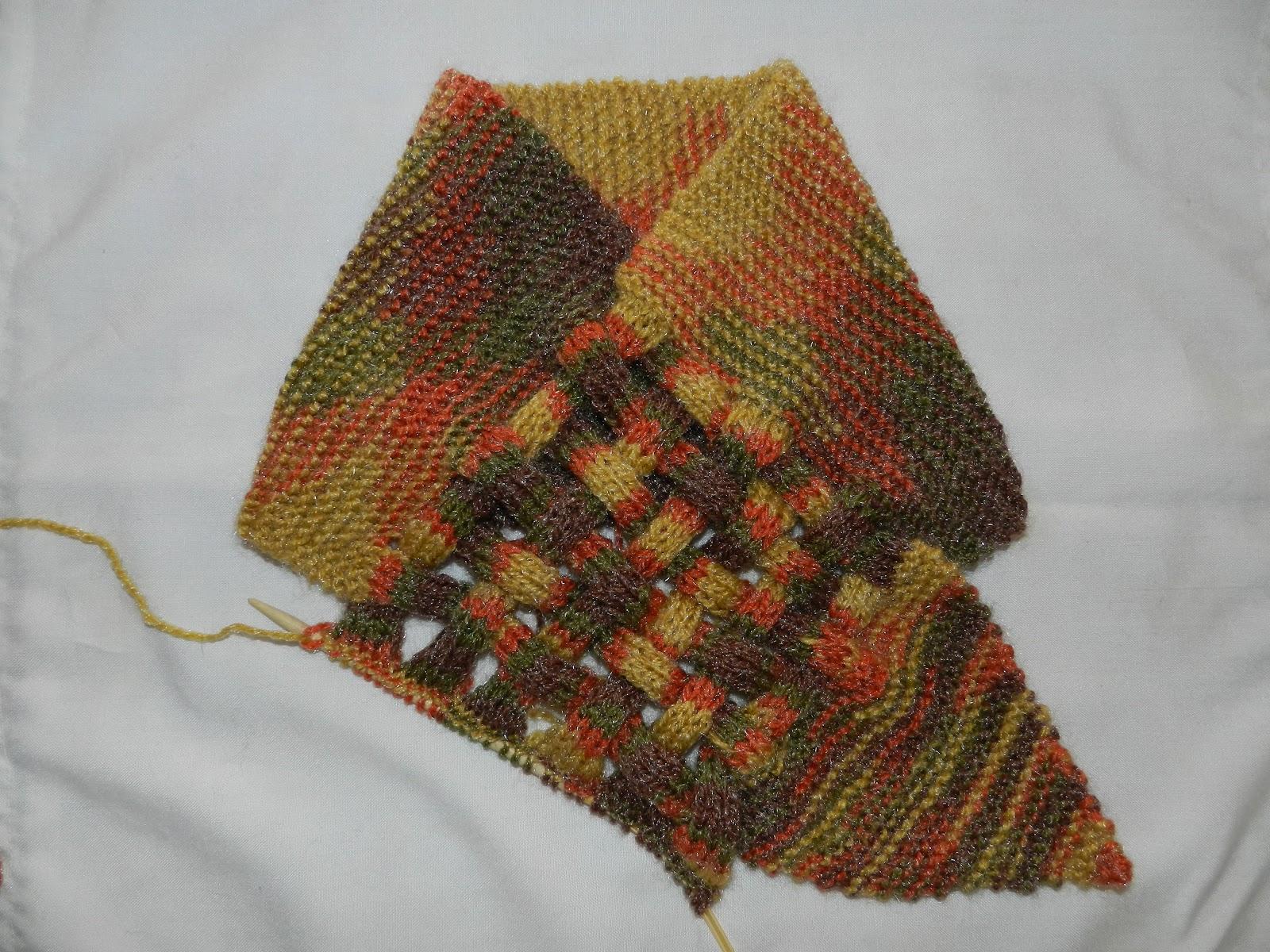 Decrease Knitting Garter Stitch : Marianita la Aranita: Tutorial 1: Neck warmer (in english)