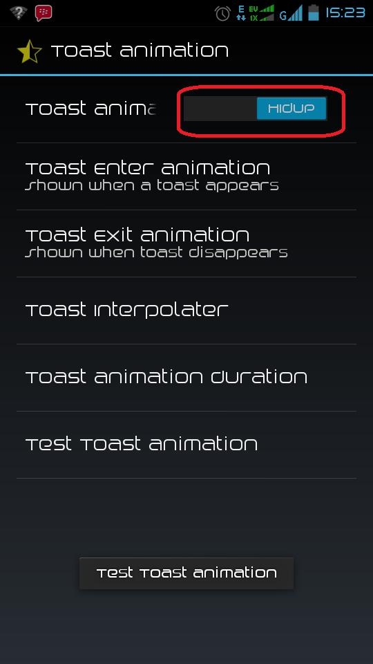 Cara Merubah Efek Pemberitahuan (Toast Animation) di Android
