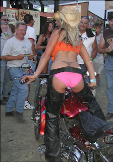 biker chicks have a fun with biker guys on Event
