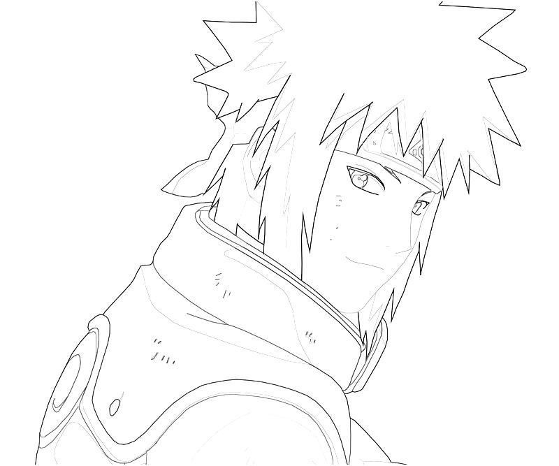 printable naruto minato portrait coloring pages
