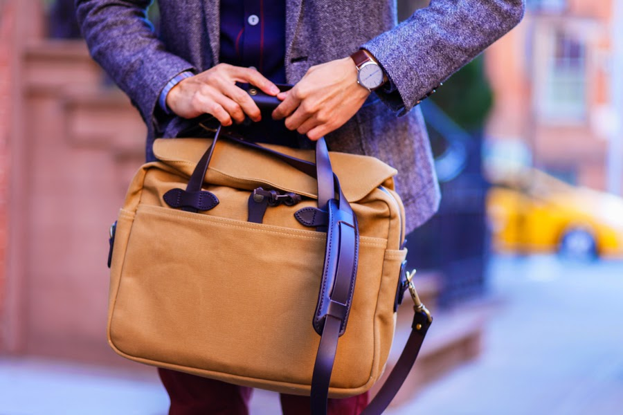 West Village - Levitate Style | Filson Briefcase, Brooklyn Tailor, Gap