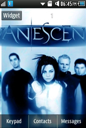 Other Evanescence Band Samsung Corby 2 Theme 2 Wallpaper