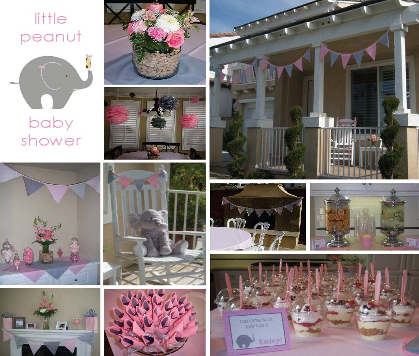 wrappaperscissors little peanut baby shower