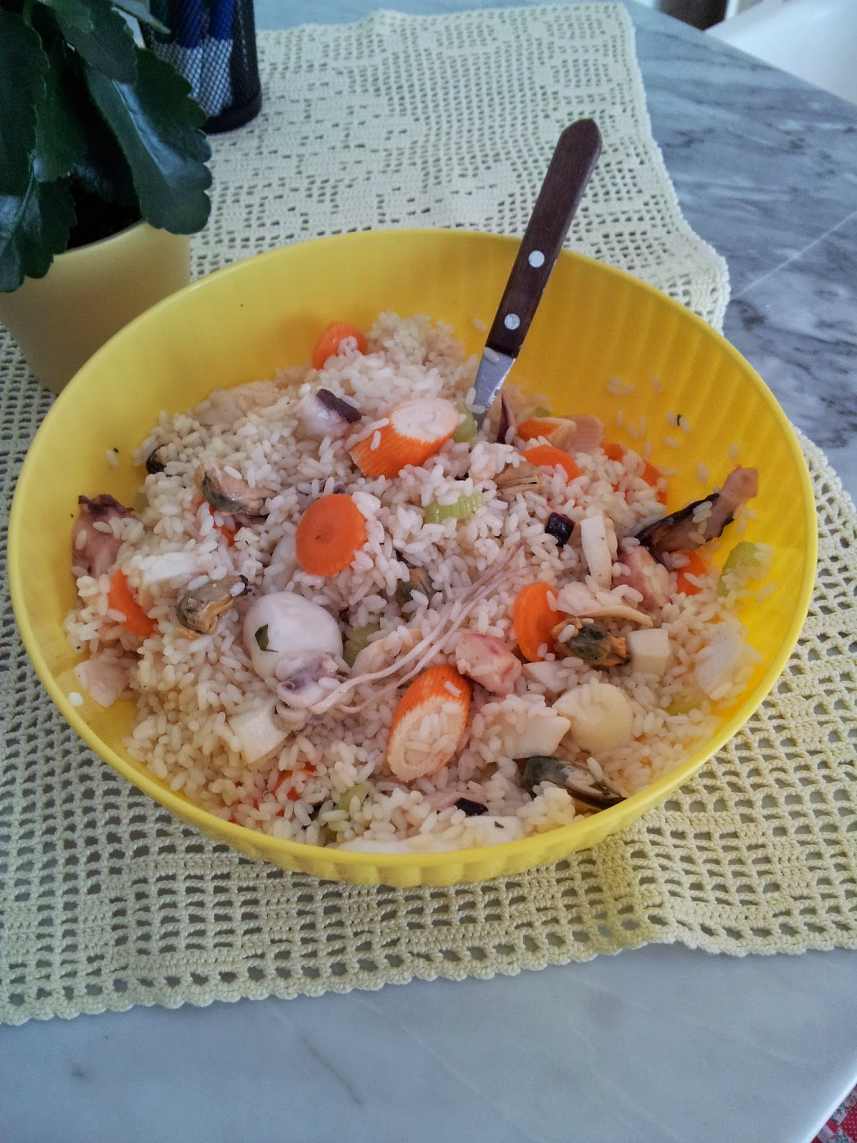 insalata di mare con riso