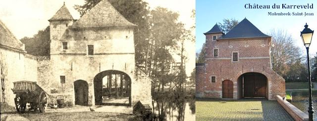 Château du Karreveld - De scènes d'histoire en scènes de théâtre - Vue de la porte cochère - Molenbeek-Saint-Jean - Bruxelles-Bruxellons