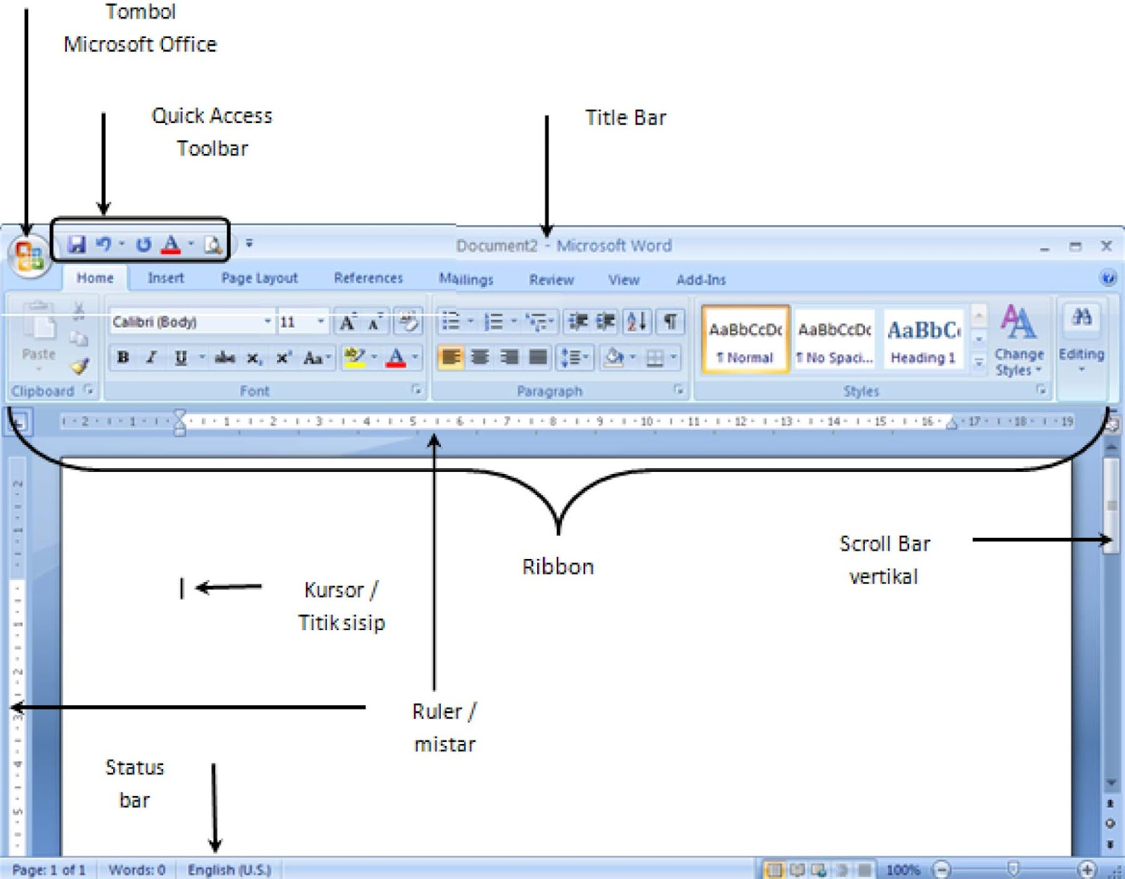 Berbagi ilmu pengalaman microsoft word 2007 tampilan layar microsoft word 2007 ccuart Gallery