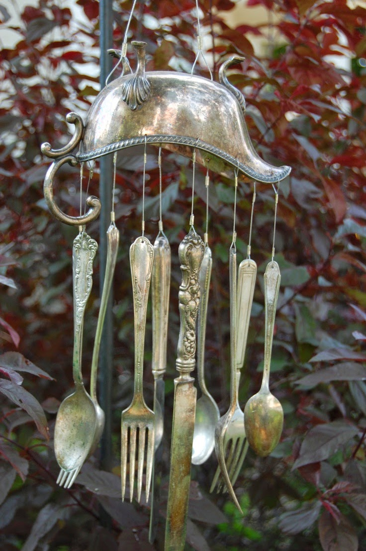 How to recycle recycled wind chimes for Fabrication miroir