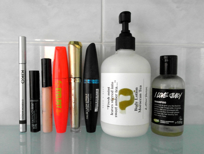 image of products Ive used up this month