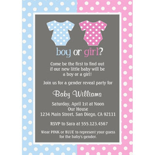 Boy or Girl Gender Reveal Invitations