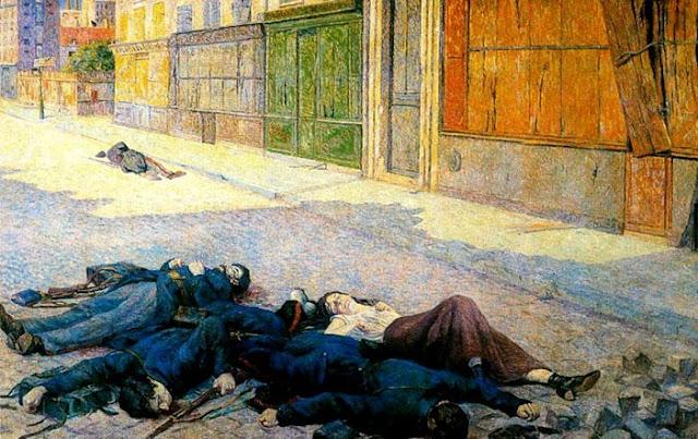 """""""Una calle de París en mayo de 1871 y la Comuna"""" - cuadro del pintor anarquista francés Maximilien Luce - año 1903 Luce-la-comuna"""