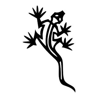 Lizard I Tatto Black & White Tribal
