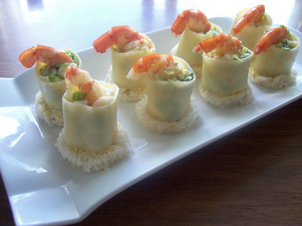 Una pincelada en la cocina aperitivo de canelones - Aperitivos de mariscos ...