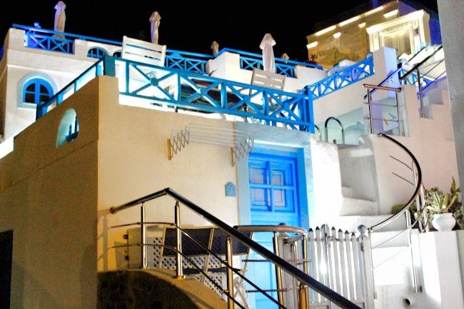 Imerovigli in Santorini, natural beauty, luxury travel destinations in Greece. Greek island.