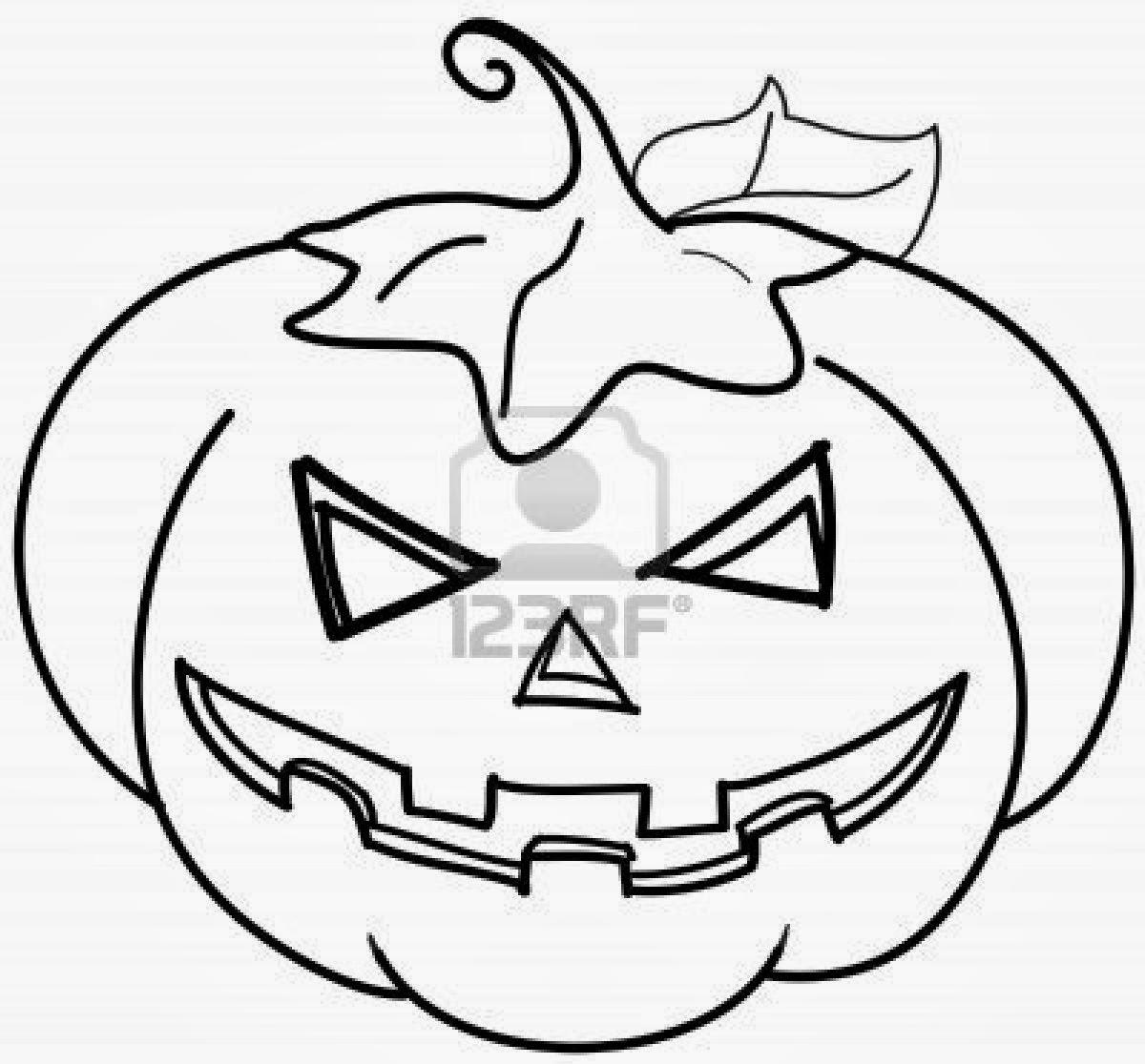 Val di souvenir o invitacion de halloween - Citrouille a dessiner ...