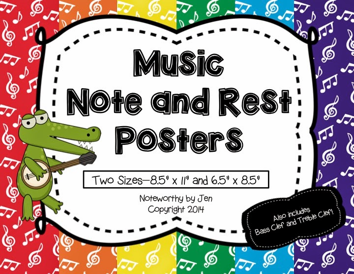 http://www.teacherspayteachers.com/Product/Music-Note-and-Rest-Posters-Rainbow-TWO-sizes-1273542
