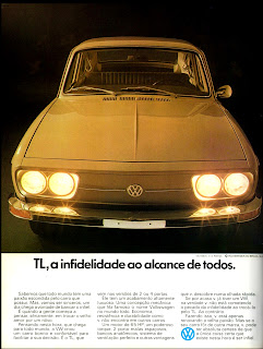 propaganda Volkswagen TL - 1972,brazilian advertising cars in the 70s; os anos 70; história da década de 70; Brazil in the 70s; propaganda carros anos 70; Oswaldo Hernandez;.