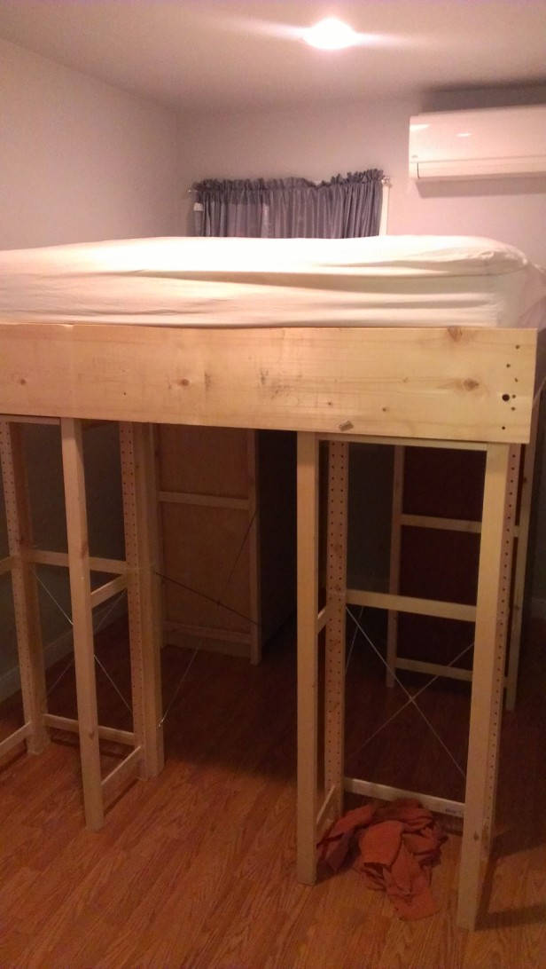 Ikea Aspelund Queen Bed Frame ~ Materials Ivar shelving system, Aspelund bed frame parts, Malm Chests