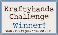 I'm a Kraftyhands Challenge Blog winner