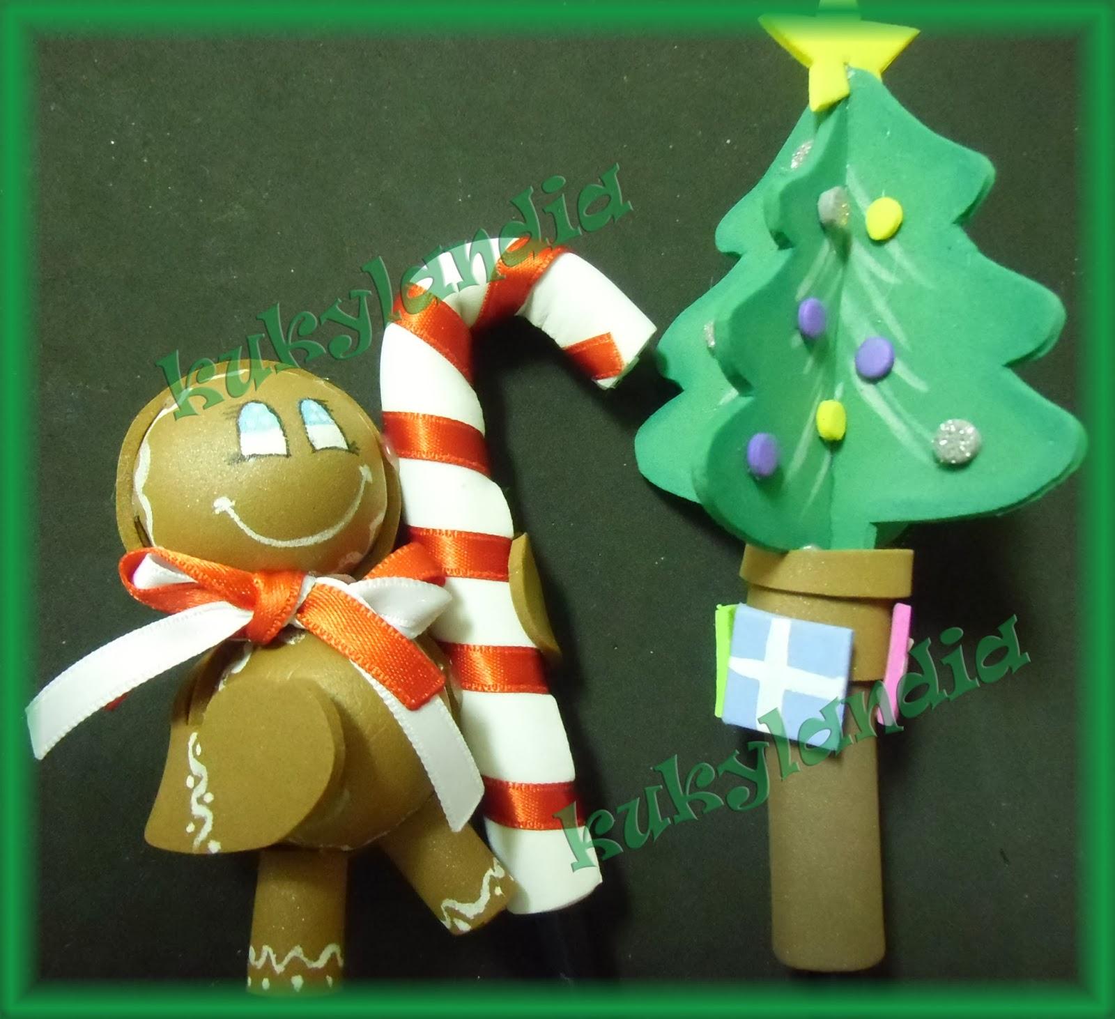 Fofulapices muñeco de jengibre y arbol
