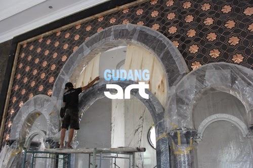 ornamen mihrab masjid