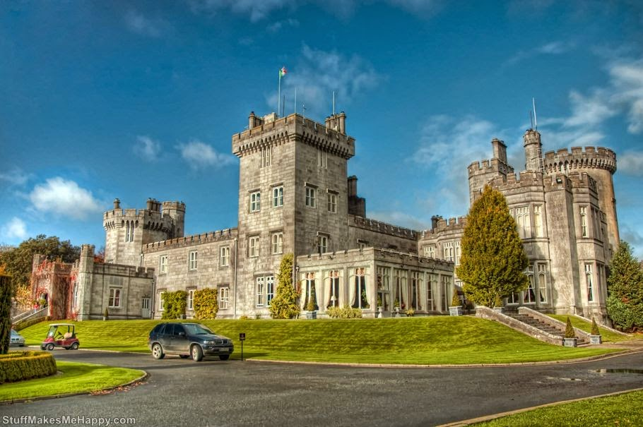 Dromoland Castle Hotel, Claire, Ireland. The building is used as a hotel since 1962 and includes 74 rooms. The cost of room for two nights - from € 235. (Photo by Noah Katz)