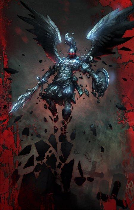 michal ivan ilustrações fantasia ficção científica games quadrinhos anjo de pedra