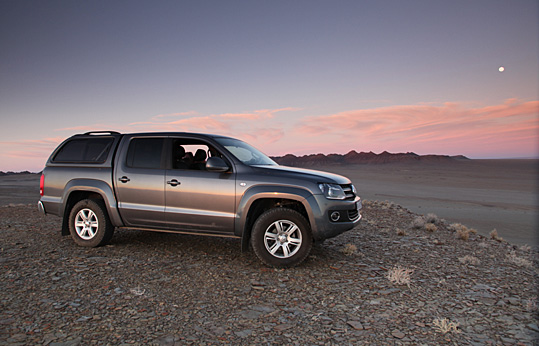 Rough expedition tracks. The ride is good and the loadbay is huge. The canopy supplied (SA-Canopy Carryboy) was as useful as a chocolate kettle. & Andrew St.Pierre White: Amarok u2013 Any good?