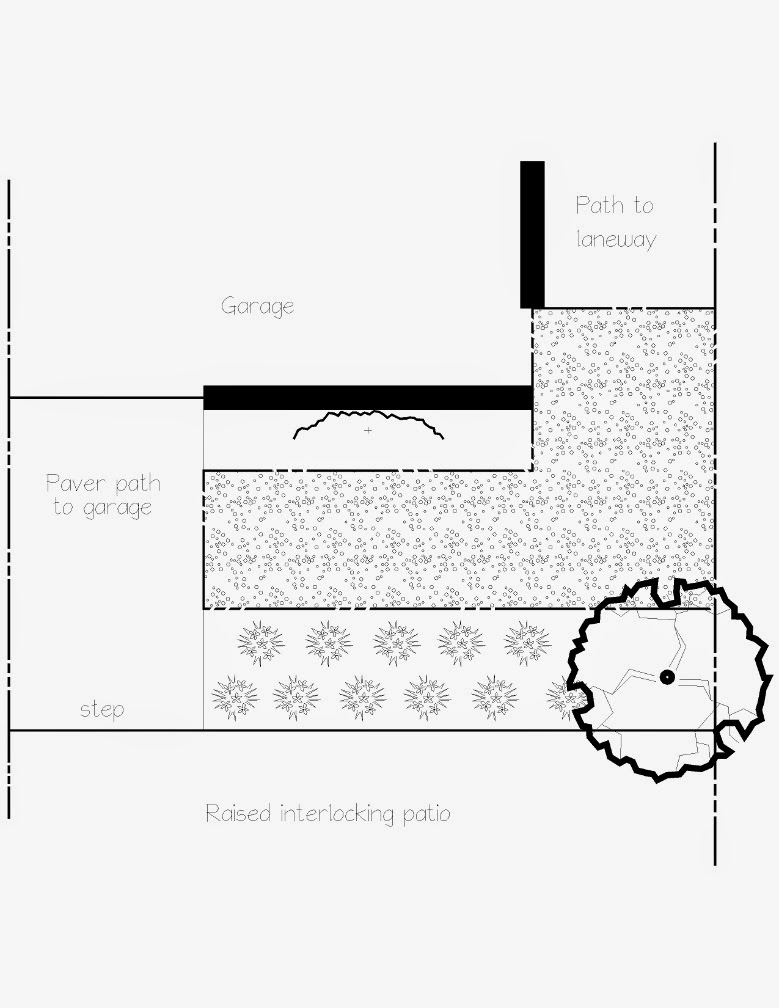 Leslieville new garden plan by Paul Jung Gardening Services Toronto