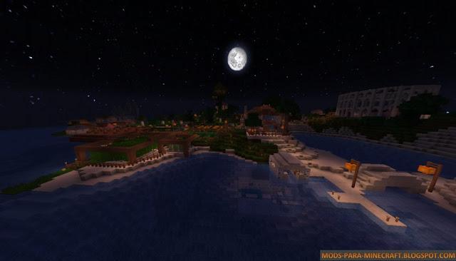 Paisaje de una noche esplendida del resource pack MarvelousCraft