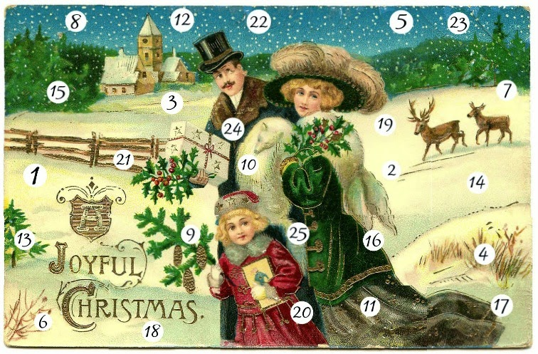 25 days of our Blogger Online Christmas Advent