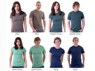 Various Blank T-Shirt Template Men and Women Models Free Download