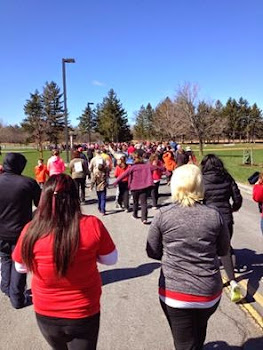 Large Group Supports Saturday Heart Walk