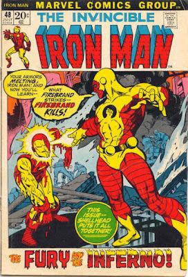 Iron Man #48, Firebrand melts armor