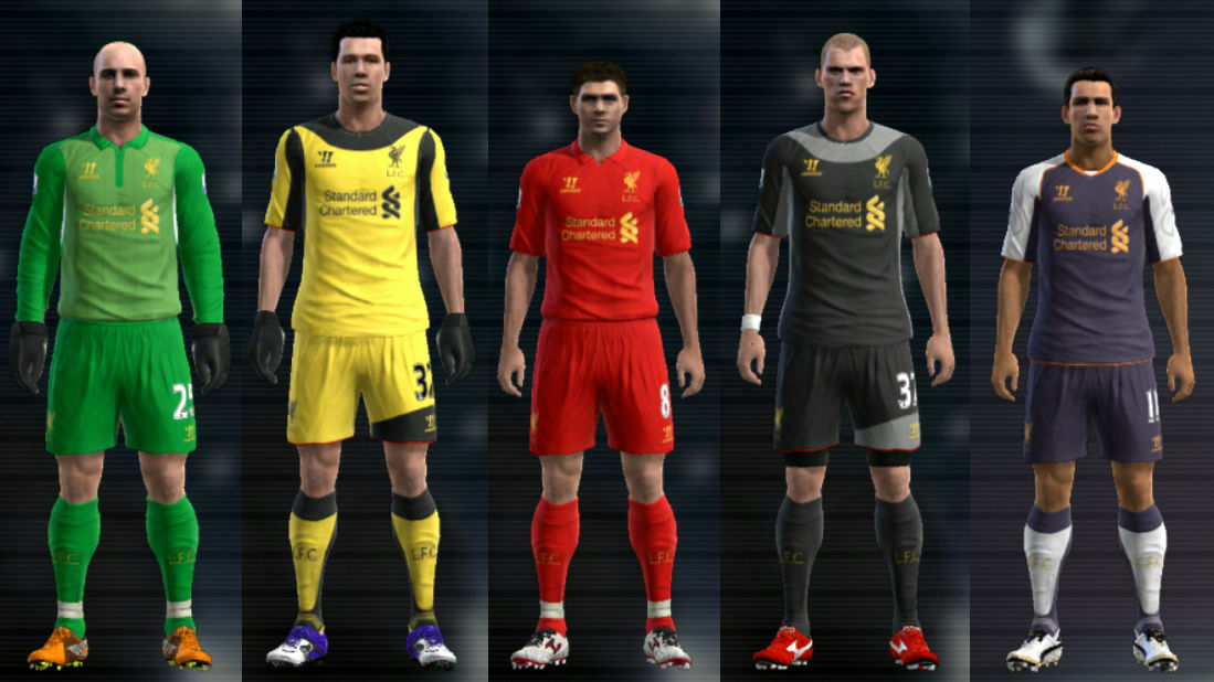 PES 2012 Liverpool 12 13 Kit Set by Cuky *Update*